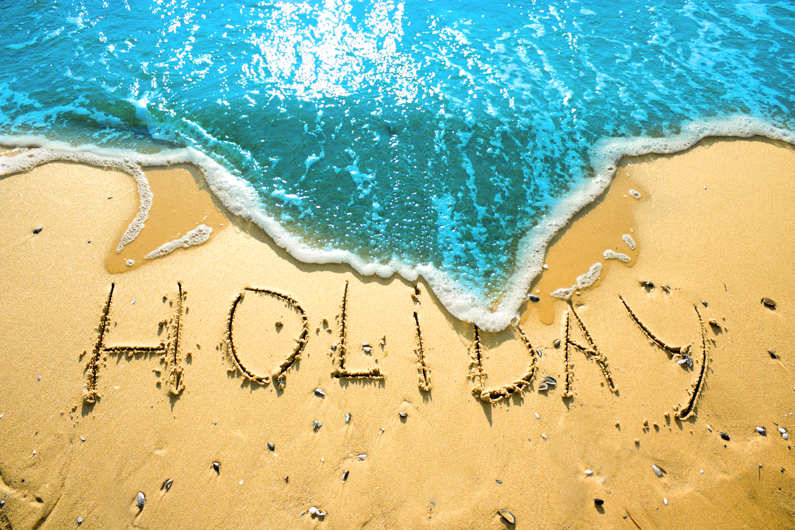 Holiday on the sand.